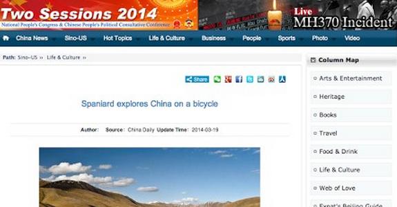 Artículo en China Daily