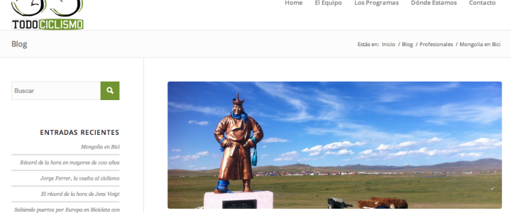 Entrevista en TodoCiclismoRadio sobre Mongolia (13-10-2014)