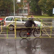 Y si las bicicletas ocuparán tanto espacio como los coches?