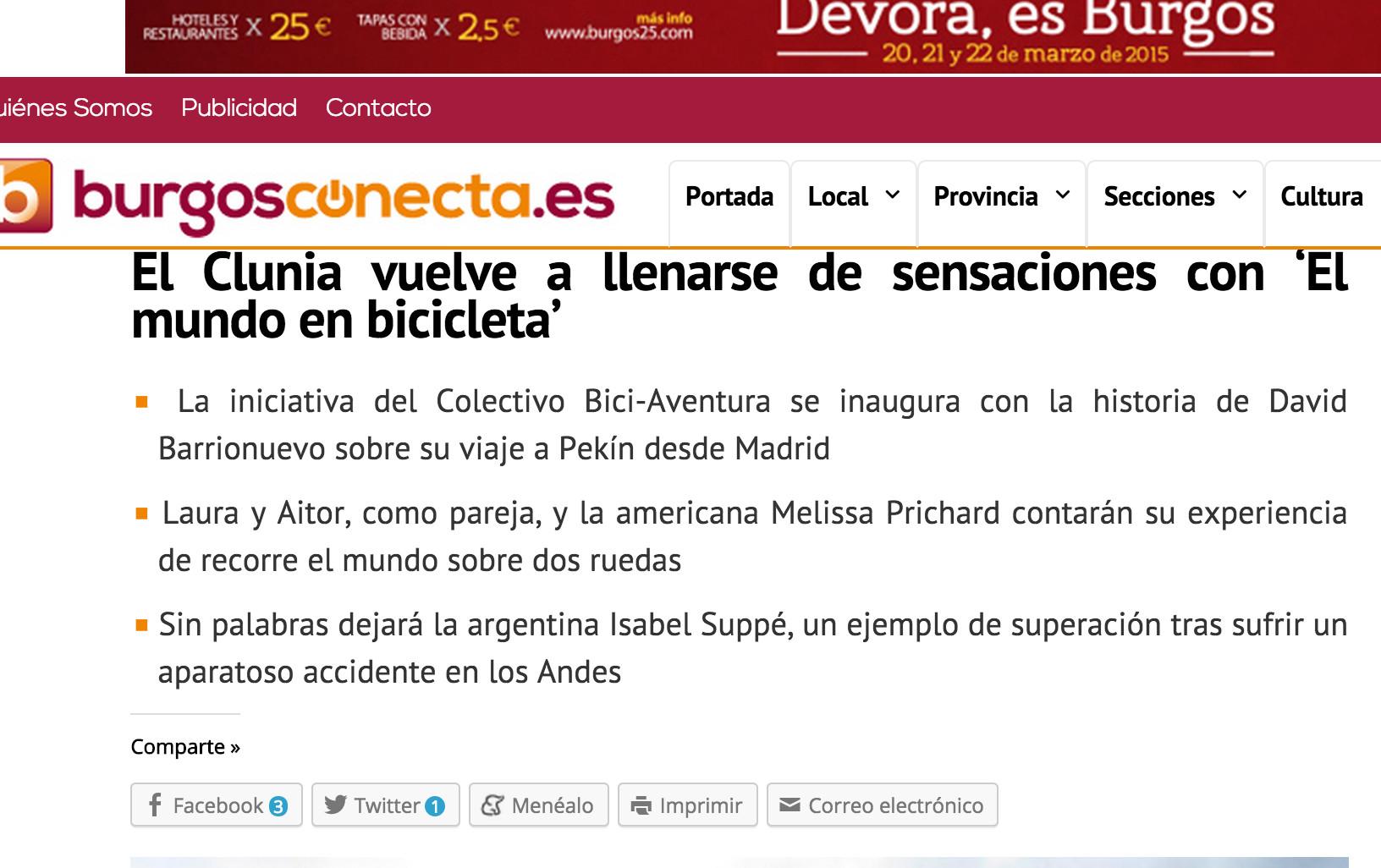 El Clunia vuelve a llenarse de sensaciones con El mundo en bicicleta Las noticias de Burgos según suceden BurgosConecta.es