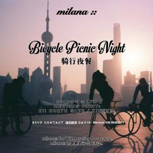 Bicycle picnic night