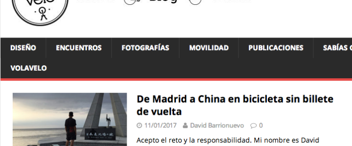 De Madrid a China en bicicleta sin billete de vuelta