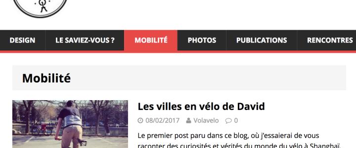 Les villes en vélo de David