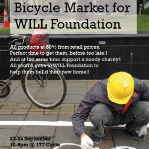 bicycle market for WILL Foundation