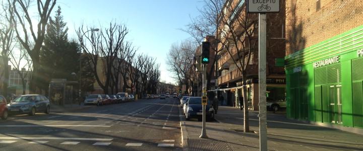 carril bici en Madrid